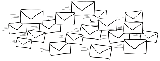 Flying mail image
